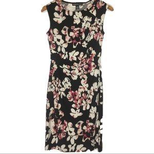 American Living Floral Faux Wrap Sheath Dress sz 4